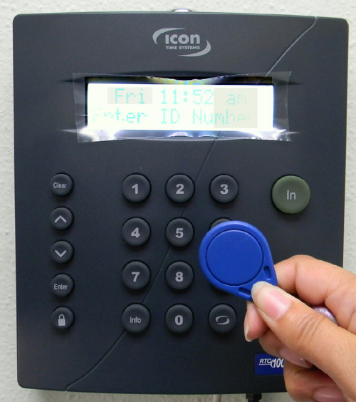 Employee Time Clocks - Icon Proximity card keyfob Reusable