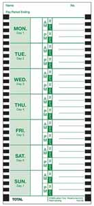 E8 weekly time card
