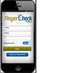 Fingercheck smartphone time clock app
