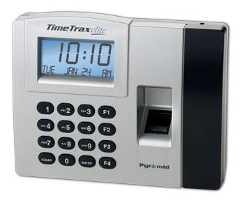 Employee Time Clocks Pyramid Timetrax Elite Biometric
