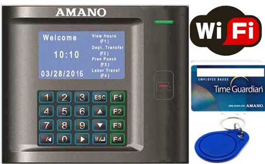 Employee Time Clocks - Amano TimeGuardian WiFi Proximity